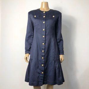 Women's Vintage Chanel Boutique button front dress